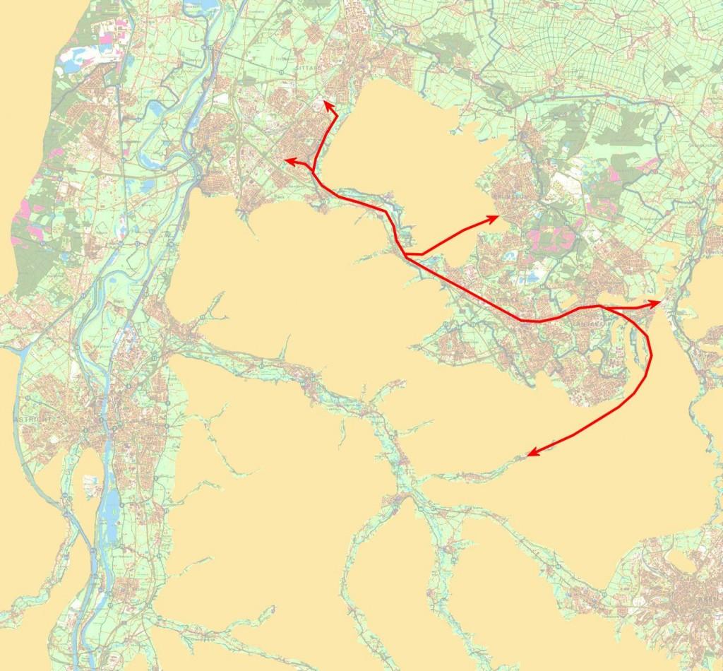 In Zuid-Limburg moet je het reliëf als uitgangspunt nemen wil je veel mensen op de fiets krijgen.